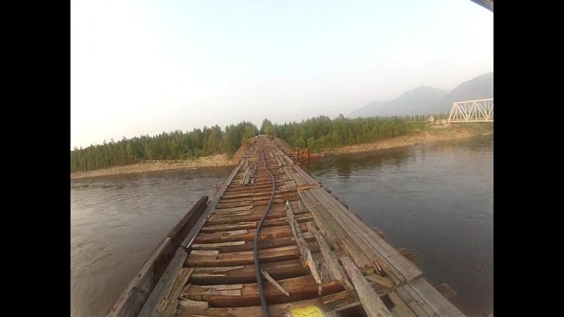 Проезд по Витимскому мосту БАМ2018 на мотоцикле