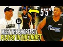 """Lavar Ball WATCHES the SHORTEST PLAYER in the DRAFT! 5'5"""" Junior Robinson PBC Highlights!"""