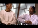 Bugaloo. Happy Hump Day Above the Rim press junket with Tupac and Marlon Wayans conducted by Abbie Kearse of MTV News