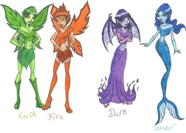 Winx Книга Новые силы Глава 1 и арты с феями