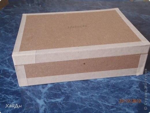 Как сделать крышку для шкатулки из картона