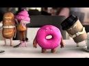 Antonio Banderas insultado por una rosquilla poseida por JOHN COBRA en el anuncio de Orbit