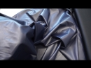 Искусственная кожа на трикотажной основе т.синий