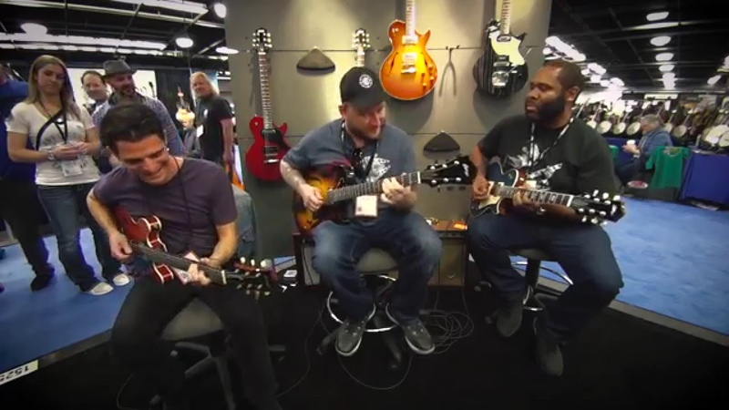 Collings Funk Jam w/ Kirk Fletcher, Josh Smith, and Mark Lettieri - NAMM 2016