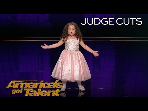 Sophie Fatu: AGT's Youngest Performer EVER Sings New York, New York - America's Got Talent 2018