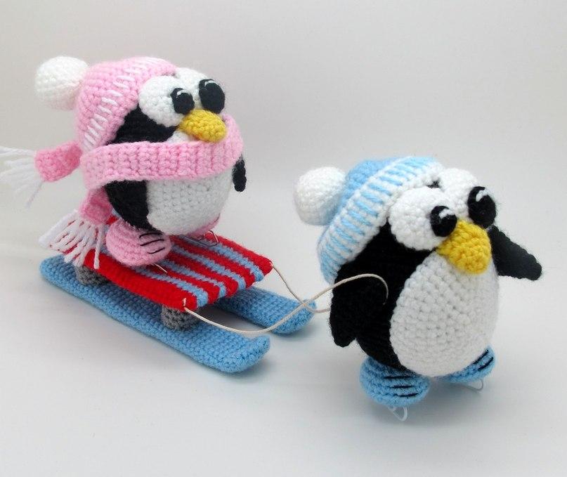 Как связать игрушку пингвин