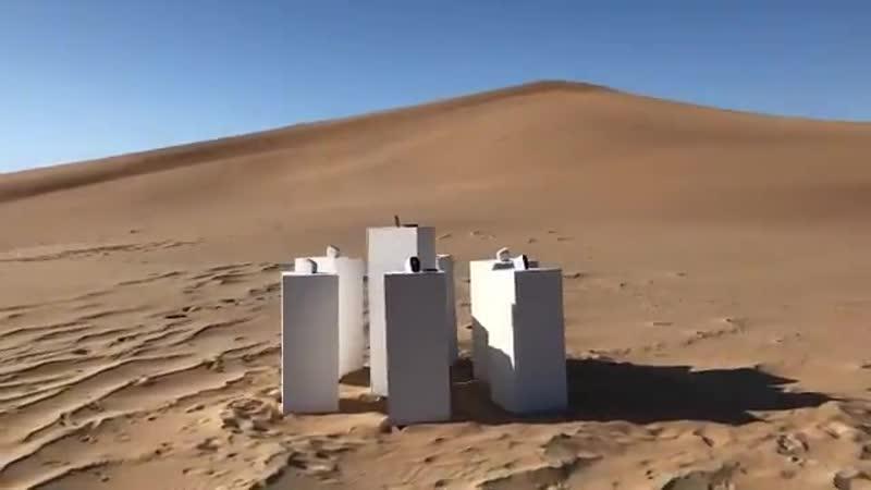 Инсталляция Maxа Siedentopfа в пустыне Намибии