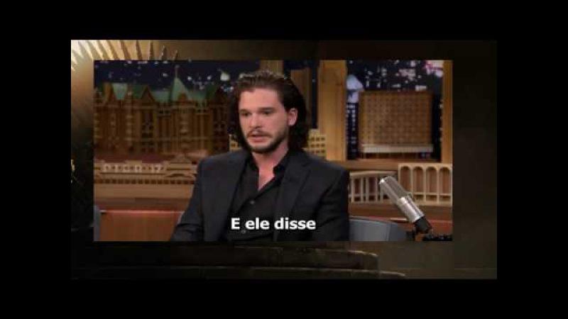 Kit Harington confessa que contou o destino de Jon Snow a um policial para evitar multa.