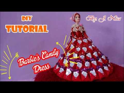 DIY    Tutorial Lengkap Barbie's Candy Dress    Barbie Candy Pakai Kantong