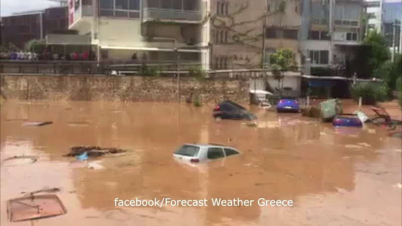 Flood in Marousi, Athens, Greece, july 26, 2018 | Наводнение в Амарусионе, Афины, Греция, 26.07.2018