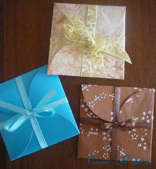 Как сделать конверт из бумаги для денег фото