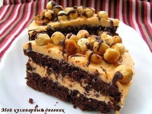 Торт шоколадно-ореховый рецепт с фото