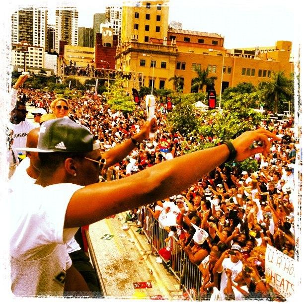 Майами Хит на параде в 2012 году
