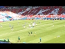 Казань-Арена. Разминка Франции и Австралии перед матчем