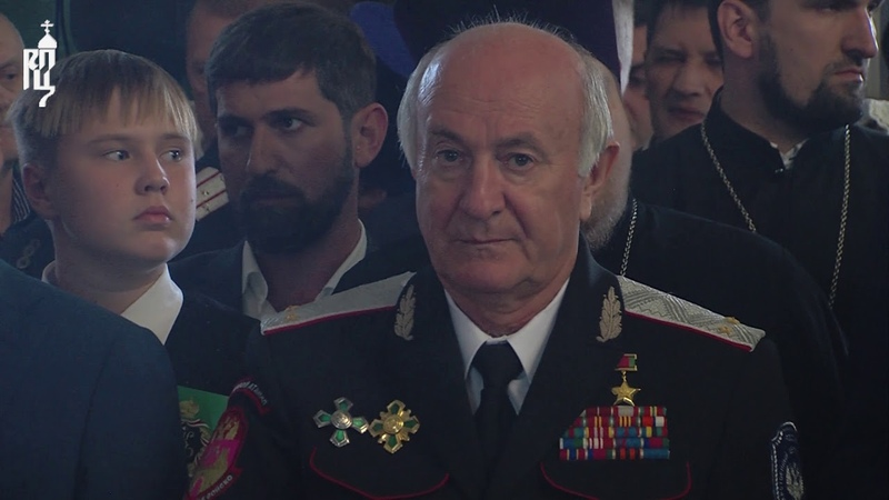 Патриарх Кирилл совершил чин Воздвижения Креста Господня в соборе свт Николая города Ейска