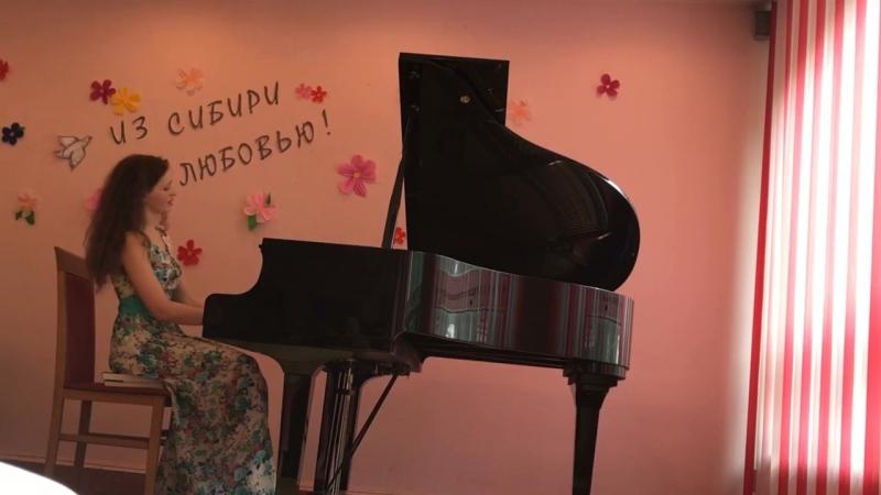 Фрагмент с концерта в Москве, концертный этюд «Вселенная», исполняет автор