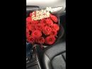 19 роз в чёрном крафте 🌹