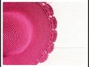Hướng dẫn móc mũ rộng vành - Mẫu 2   Móc vành hoa rẻ quạt   Tutorial crochet sun hat Ver2   HaNa