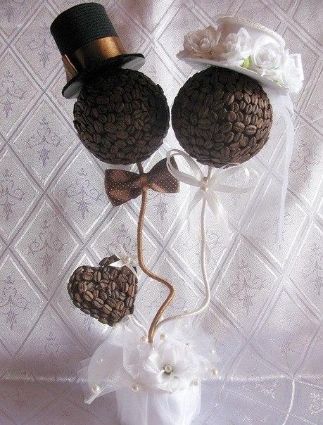 Топиарий из кофе для свадьбы