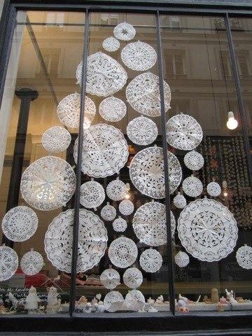 Ажурная елочка для окна. Схема