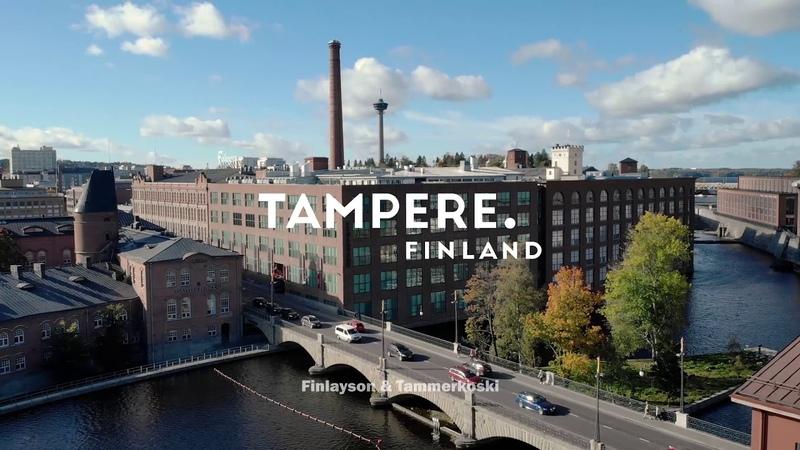 Bird's eye view of Tampere, Finland