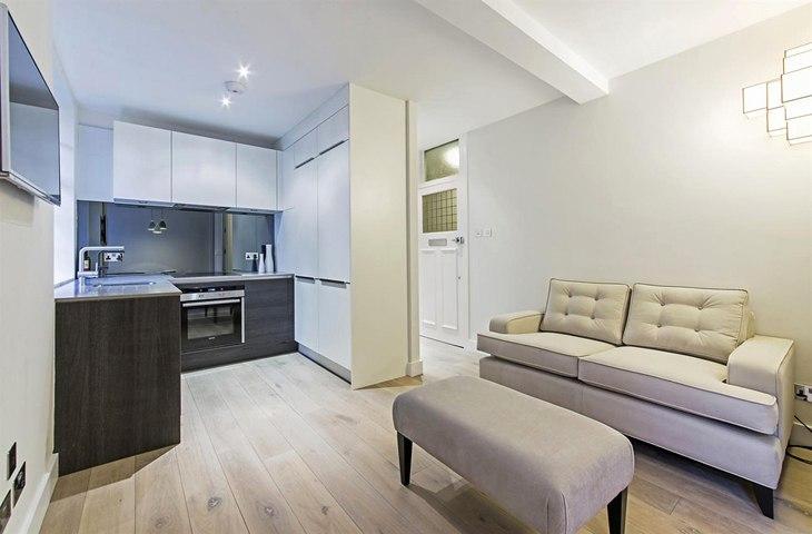 Английская студия 32 м с мини-спальней в Лондоне - http://kvartirastudio.