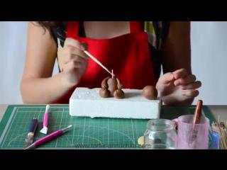 Мастер-класс Мишка из сахарной мастики