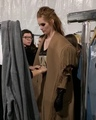 Models Stories on Instagram Alexina Graham (@alexinagraham) at backstage for Max Mara FallWinter 18 Collection during Milan Fashion Week.