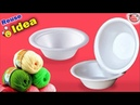 Best out of Waste Disposable Bowl | Handmade Craft | DIY Room Decor | How to make Flower at Home