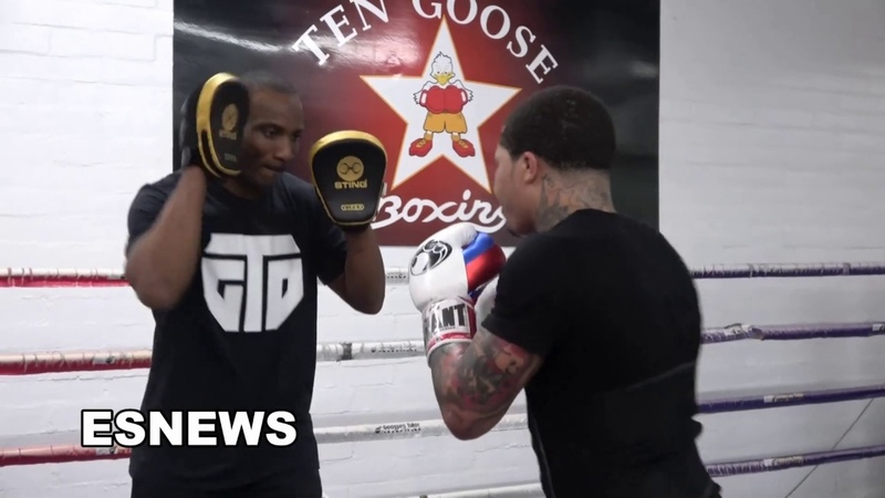 EXPLOSIVE Gervonta Davis On The Mitts In Camp For Abner Mares EsNews Boxing