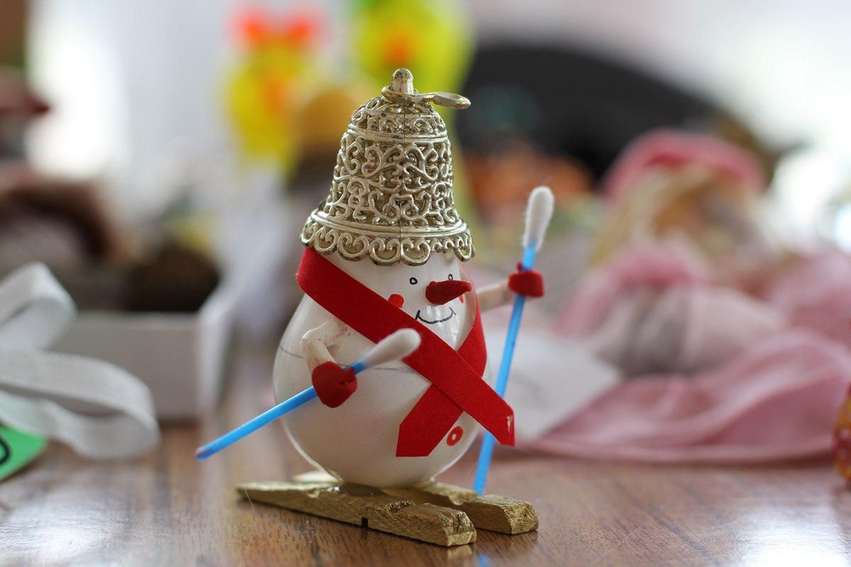 Новогодние игрушки своими руками снеговик фото