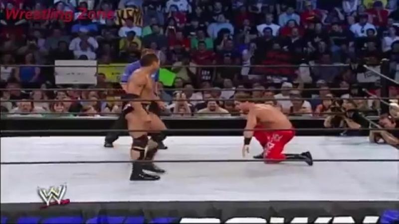 The Rock vs Chris Benoit(The Rock meet Brock Lesnar Face to Face) Aug.15,2002 WWE SMACKDOWN