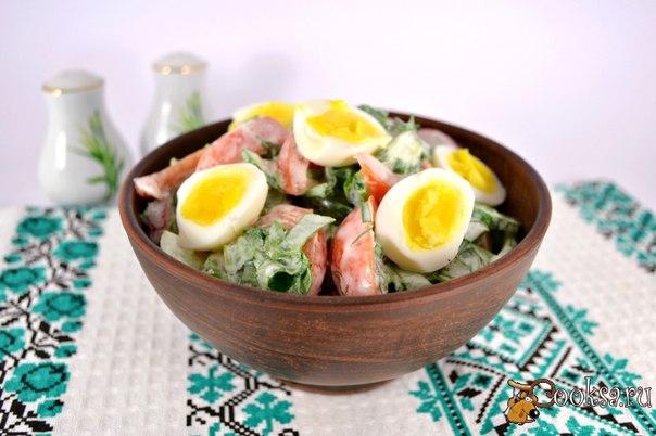 Весенний салат со щавелем и перепелиными яйцами Простой в приготовлении, необычайно вкусный и полезный весенний салатик.