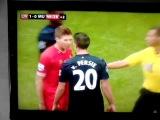 Liverpool captain Steven Gerrard calls Man United's Robin van Persie a 'fcking prick'