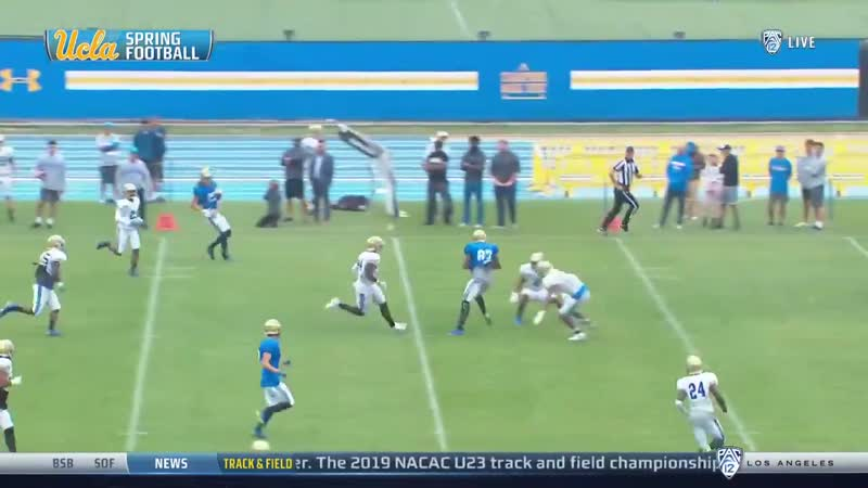 The throw ️ the catch Watch @UCLAFootballs spring game on Pac 12 Now