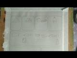 рисую комикс с Жорочкой и слушаю аудиокнигу Терри Пратчета