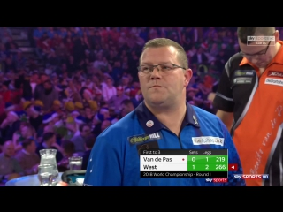 Benito van de Pas vs Steve West (PDC World Darts Championship 2018 / Round 1)