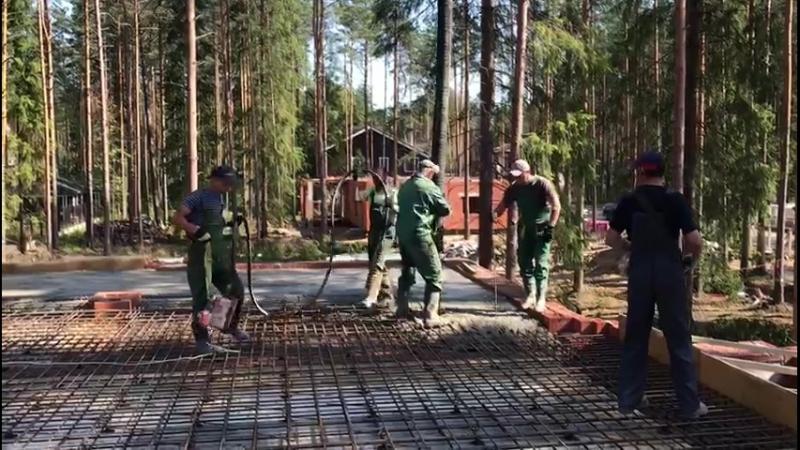 Устройство плиты монолитного перекрытия на объекте в посёлке Охтинский парк