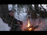 Ночёвка зимой в тайге в суГРОБе ! В тайгу за хариусом