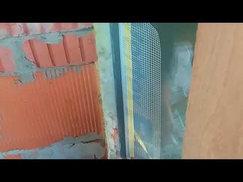 Элемент примыкания с сеткой технология приклейки на оконный блок утепление фасадов СФТК
