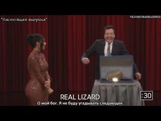 Jimmy and kim kardashian west freak out touching mystery objects [rus sub]