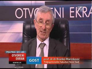 TV KANAL9, NOVI SAD: OTVORENI EKRAN 25.06.2014. prof. dr Branko Marinković