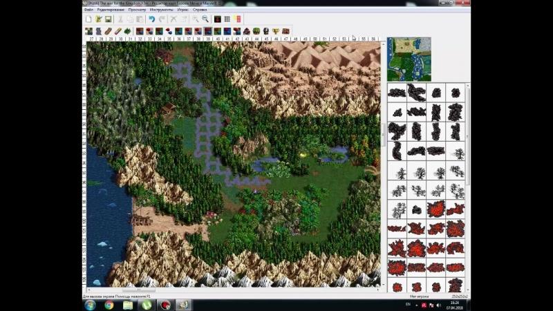Обзор моей гиганской карты Для Heroes of Might and Magic III Hota