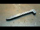 Нож из костыля. Making a knife from a spike - saws glass