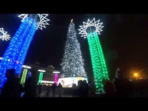 Главная елка Украины 2019 Новогодняя елка Софиевская площадь Киев Украина