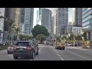 Driving Downtown - Miami's Millionaire Row 4K - USA