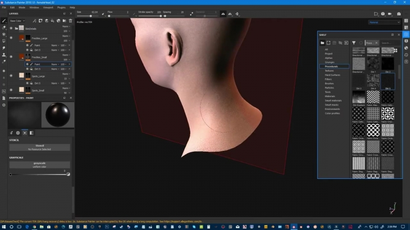 Substance Painter 2018.1 Skin painting tutorial episode 1