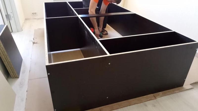 Сборка шкафа Лагуна