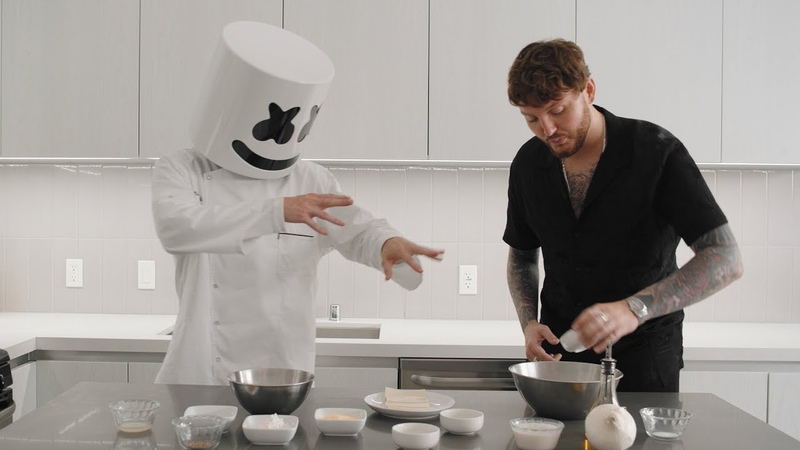 Cooking with Marshmello How To Make Vegan Fish Chips (feat. James Arthur)