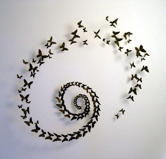 Декор для стен из бабочек своими руками фото